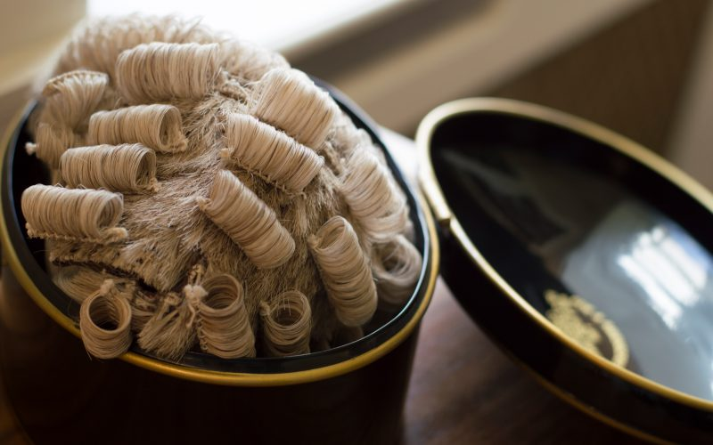 5 Stone Buildings - barrister wig
