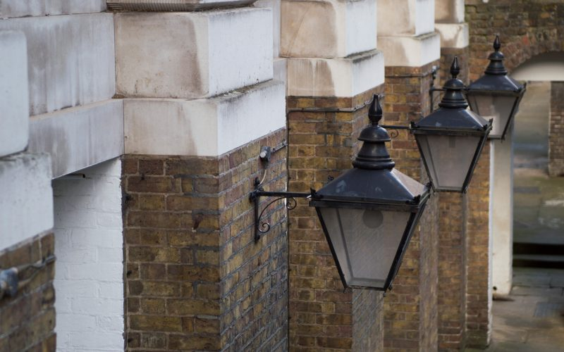 5 Stone Buildings - iron wall lamps