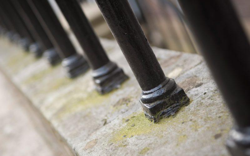 5 Stone Buildings iron railings