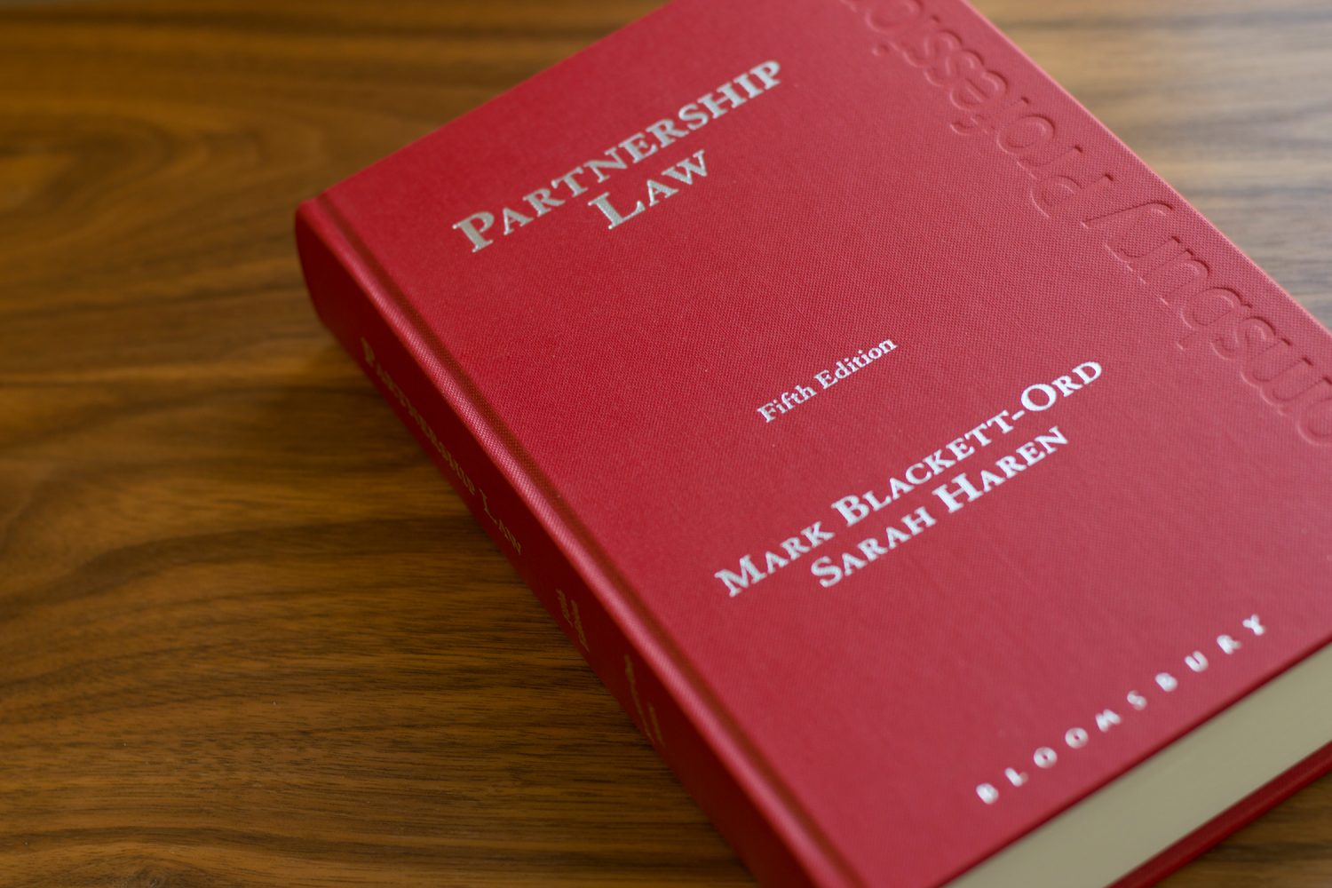 Partnership Law - Mark Blackett-Ord & Sarah Haren