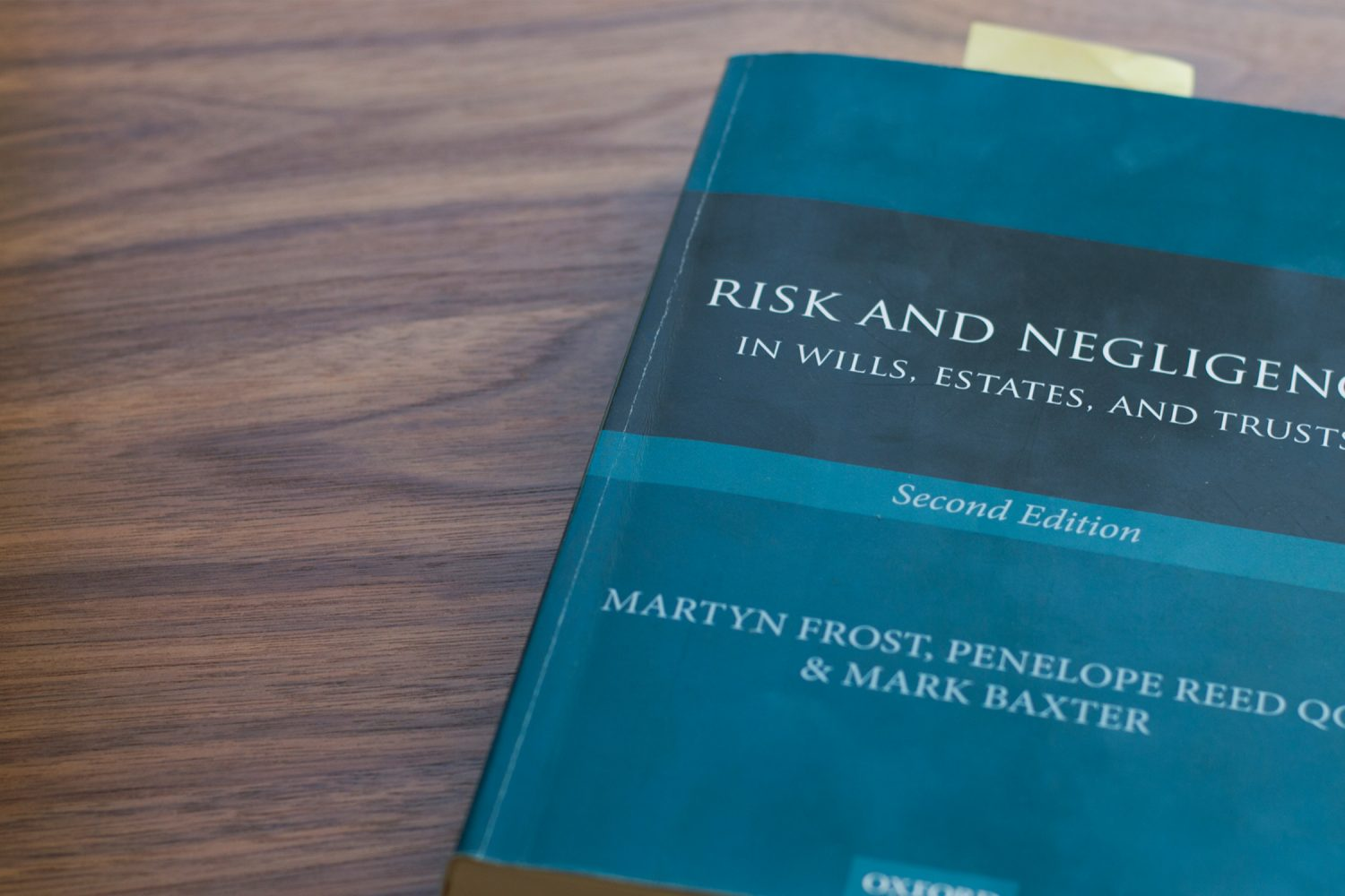 Risk and Negligence in Wills, Estates and Trusts